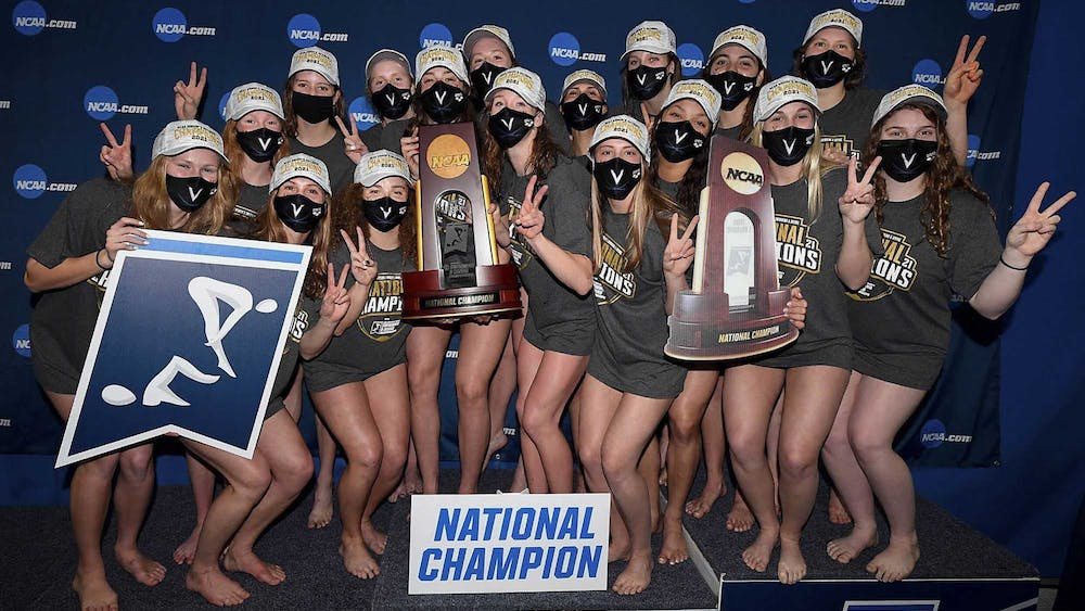 The University women's swimming and diving team just took home the NCAA championship title, but their success has been overshadowed by the men's basketball team's elimination.