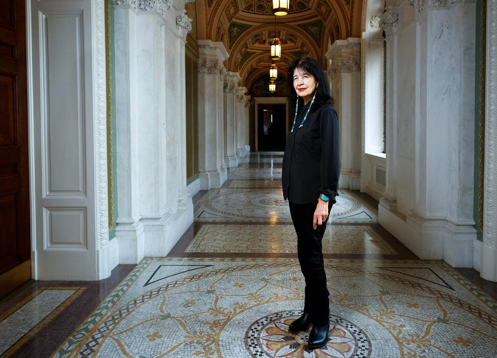 <p>Joy Harjo is the first Native American to serve as poet laureate and is a member of the Muscogee Creek Nation.&nbsp;</p>