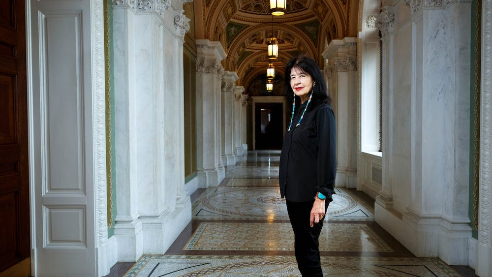 Joy Harjo is the first Native American to serve as poet laureate and is a member of the Muscogee Creek Nation.