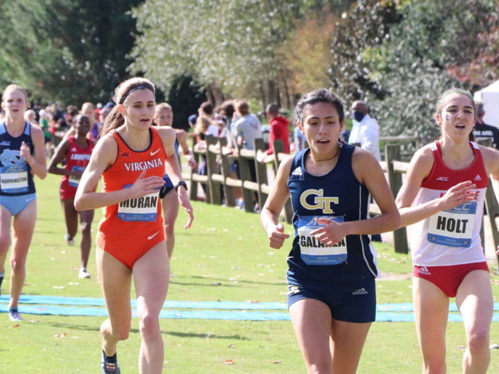 For the women's team, senior Hannah Moran led the way with an 18th-place finish, earning her first All-ACC honor.