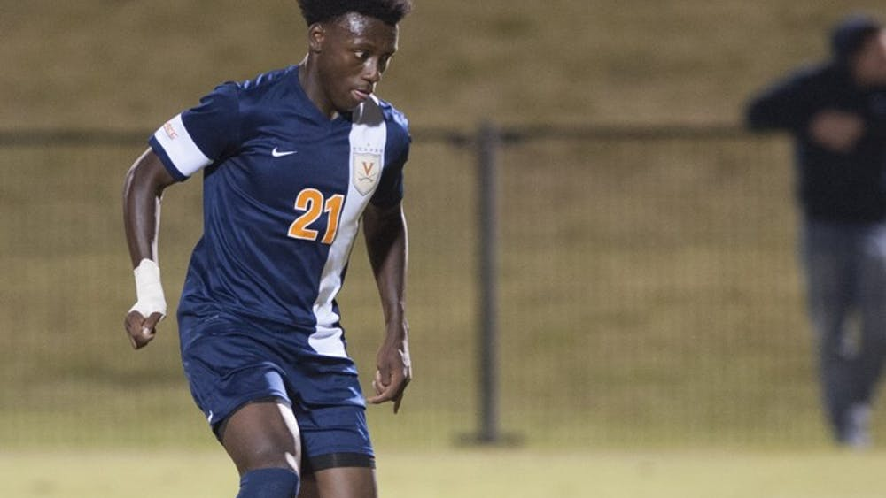 Freshman midfielder Derrick Etienne scored his first collegiate goal in Virginia's 1-0 win Sept. 21 at Virginia Commonwealth.