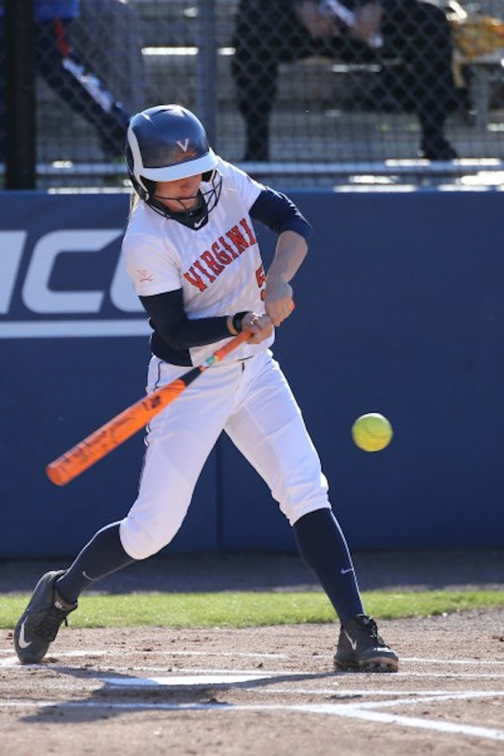 <p>Junior outfielder and pitcher Allison Davis currently leads the Cavaliers with her batting average of&nbsp;.388.</p>
