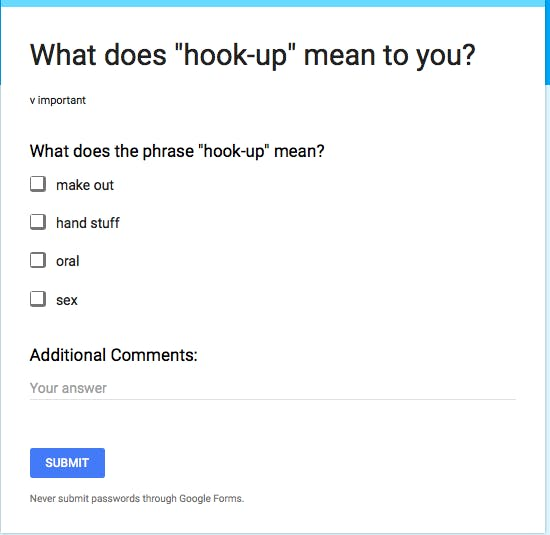 How to answer what are you looking for hookup