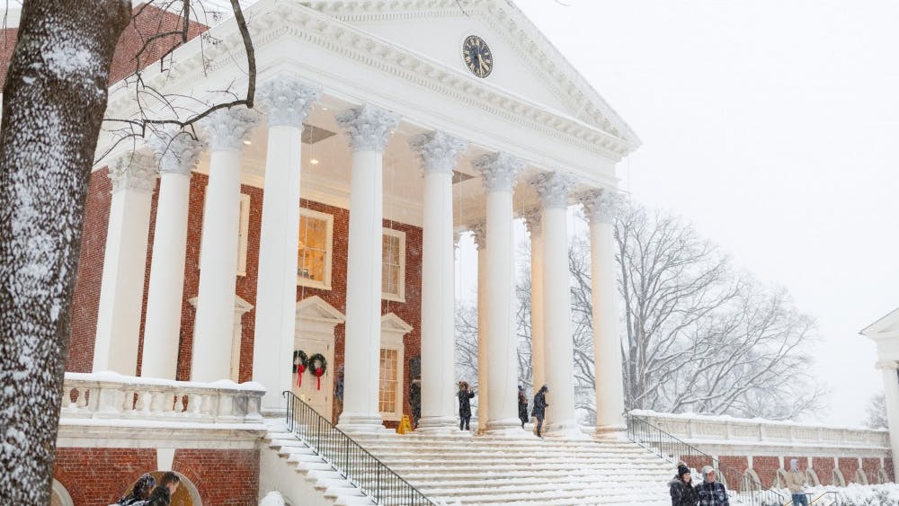 The University received several inches of snow over the course of Sunday.