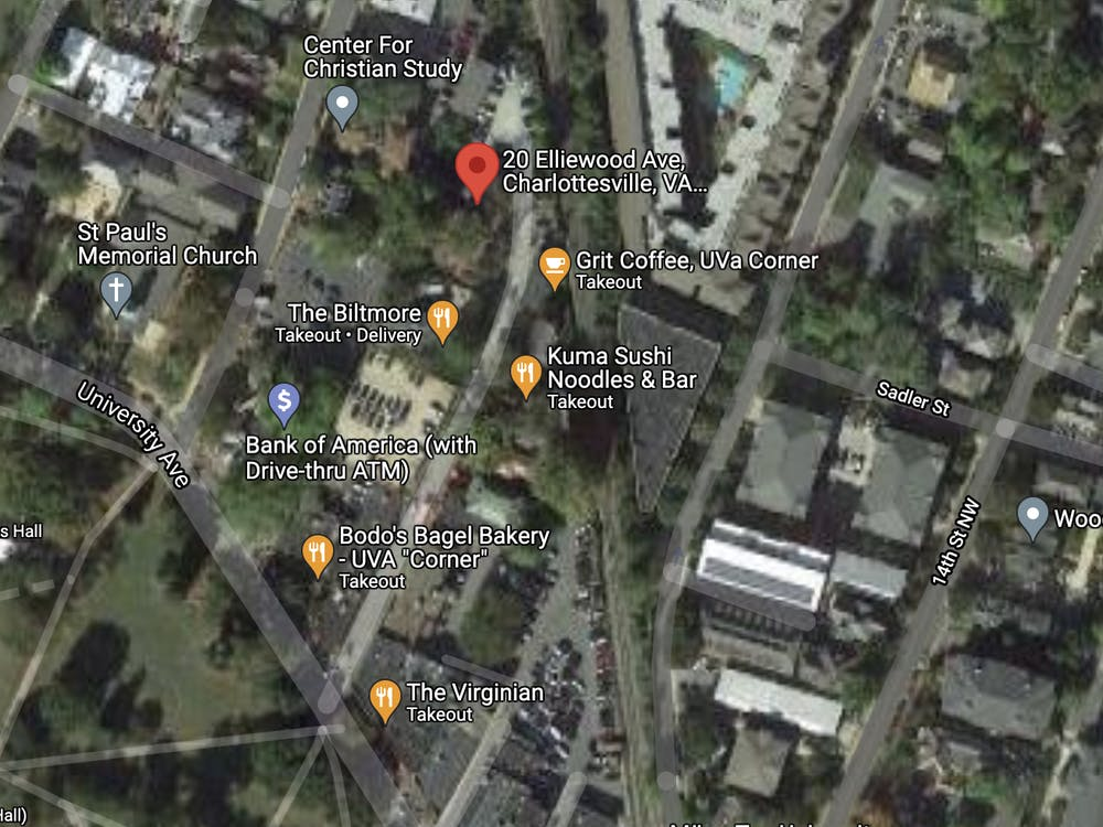The incident was reported at 20 Elliewood Ave., which is located near Grit Coffee and The Biltmore.
