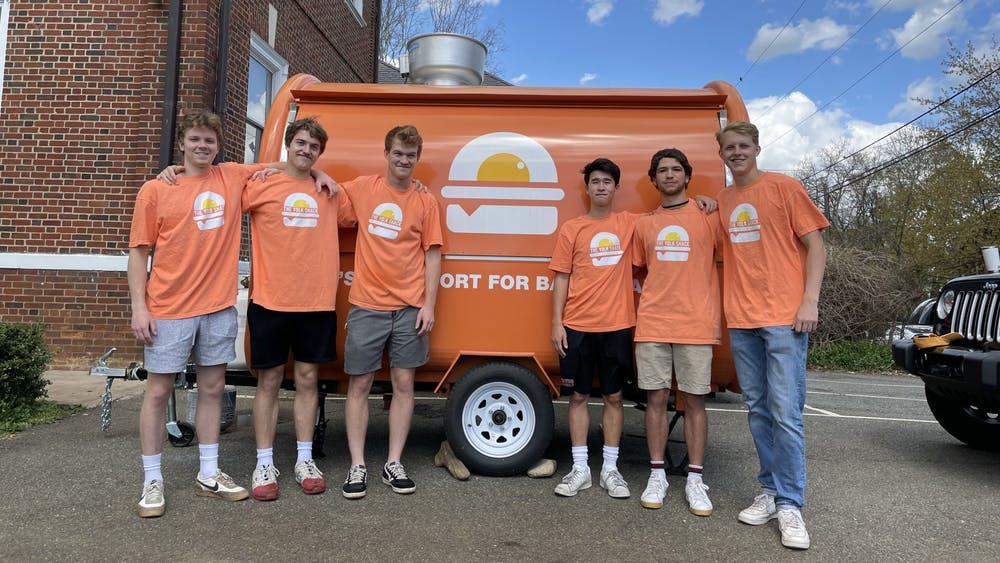 In addition to Kenyon and Matisse who work the food truck full-time, The Yolk Shack has several other part-time student employees who are also members of the Phi Kappa Psi fraternity.