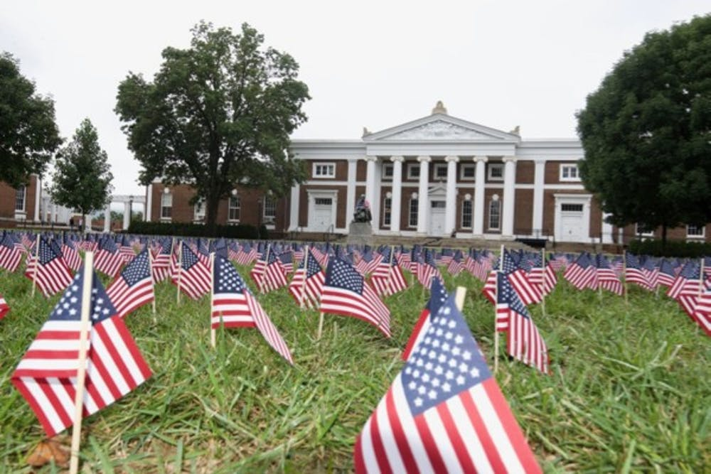 3000 Miniature Flags Placed On South Lawn As Part Of Sept 11 Commemoration Event