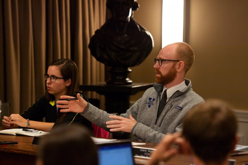 <p>Ory Streeter (right), Honor Committee chair and a Medical student, said he did not want the proposed changes to comprise the bulk of the Committee's work this semester.&nbsp;</p>