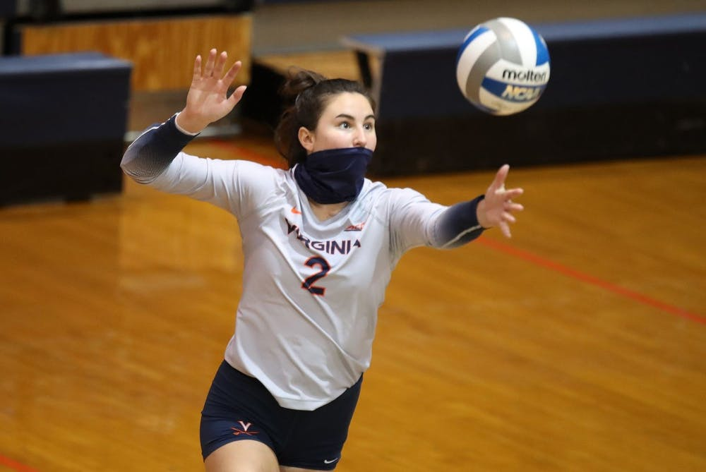<p>Senior libero Alex Spencer was one of Virginia's leaders in digs against Georgia Tech with 11.</p>