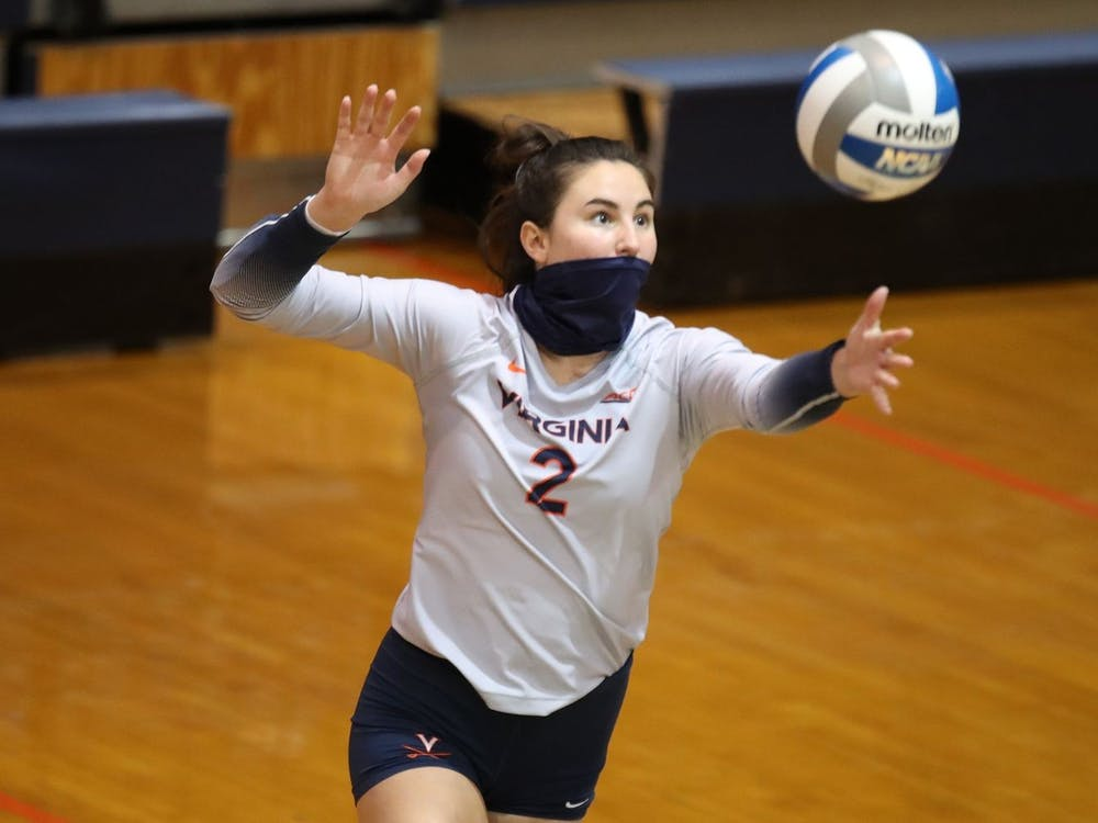 Senior libero Alex Spencer was one of Virginia's leaders in digs against Georgia Tech with 11.