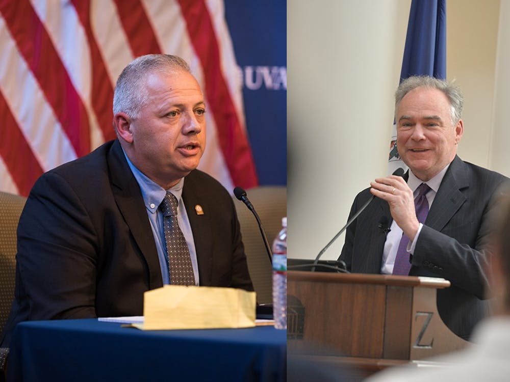 Denver Riggleman and Tim Kaine were elected to Congress on Tuesday.