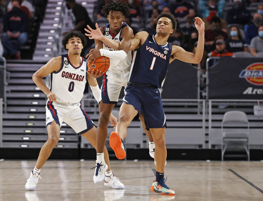 <p>Freshman guard Jabri Abdur-Rahim and the Cavaliers struggled defensively against the Bulldogs, allowing them to shoot over 60 percent from the field.&nbsp;</p>