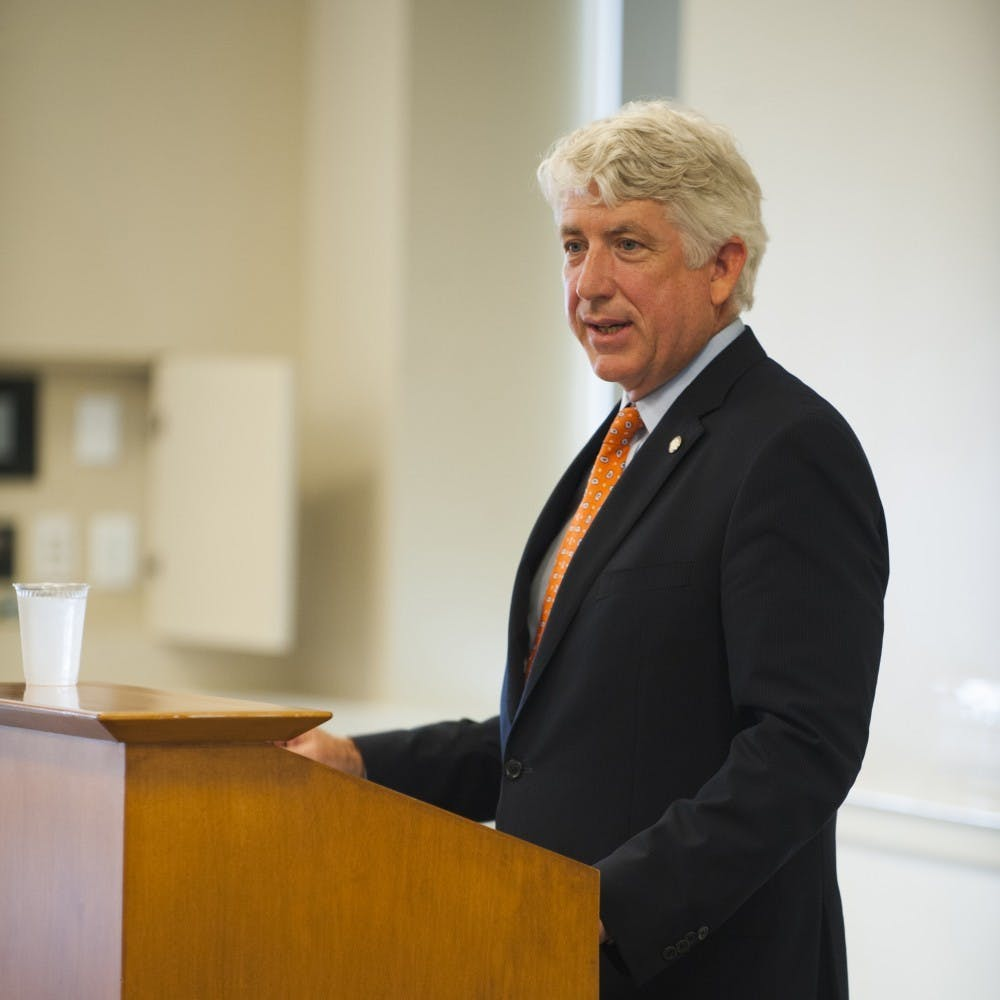 Mark Herring said he put black makeup on his face to look like a rapper for a party while a student at U.Va. in 1980.