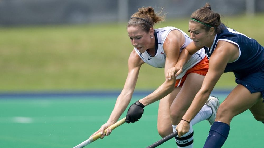After playing on offense for the first three years of her career at Virginia, senior Lauren Elstein made the transition to back before the start of the 2009 season. Photo by Bennett Sorbo.