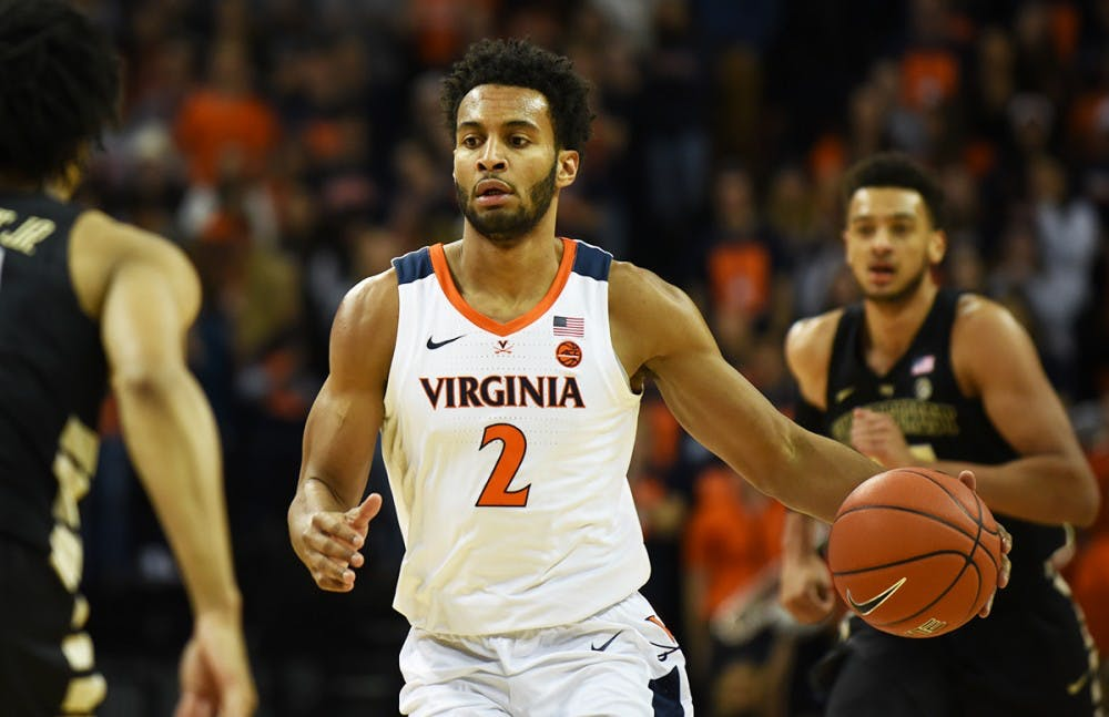 <p>Junior transfer guard Braxton Key led the Cavaliers in rebounds, with eight.</p>