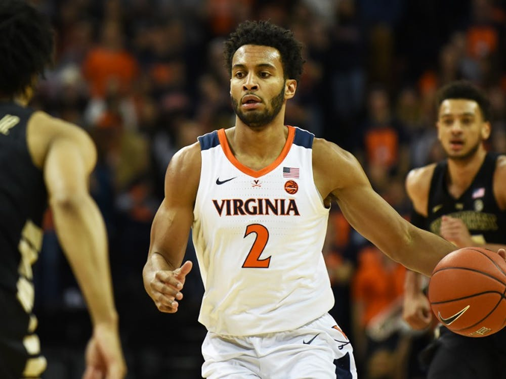 Junior transfer guard Braxton Key led the Cavaliers in rebounds, with eight.