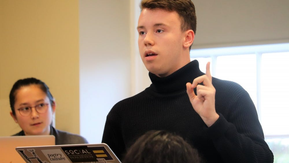 Second-year College representative Hunter Wagenaar proposed the bill at Tuesday's Student Council meeting.