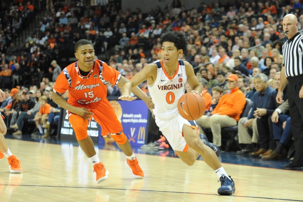 <p>Freshman guard Kihei Clark is averaging 25.8 minutes per game this year, defying expectations.</p>