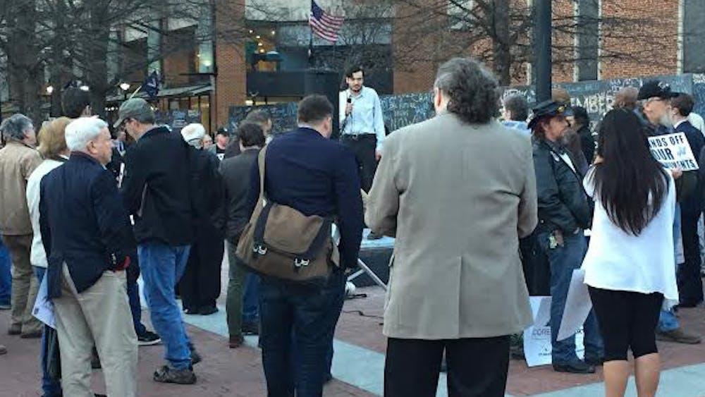 Stewart said he organized the rally to defend Virginia's heritage and call the state's attention to the Council's vote.