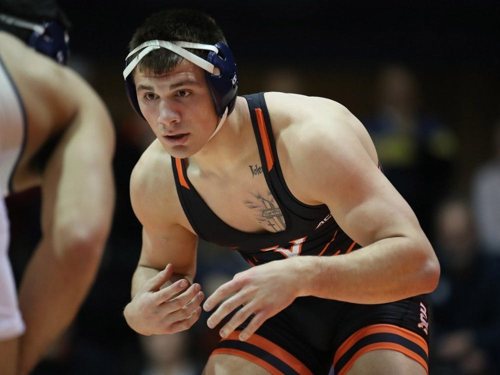Junior Jay Aiello currently ranks ninth nationally in the 197 weight class.