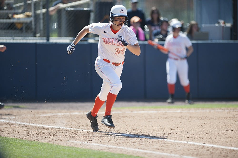 <p>Senior left fielder Megan Harris leads Virginia with five triples this season, but she and the Cavaliers struggled to score against NC State, putting up just three runs in three games.</p>