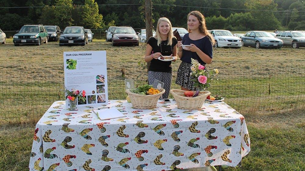 Morven Kitchen Gardenvolunteers promote their CSA program.
