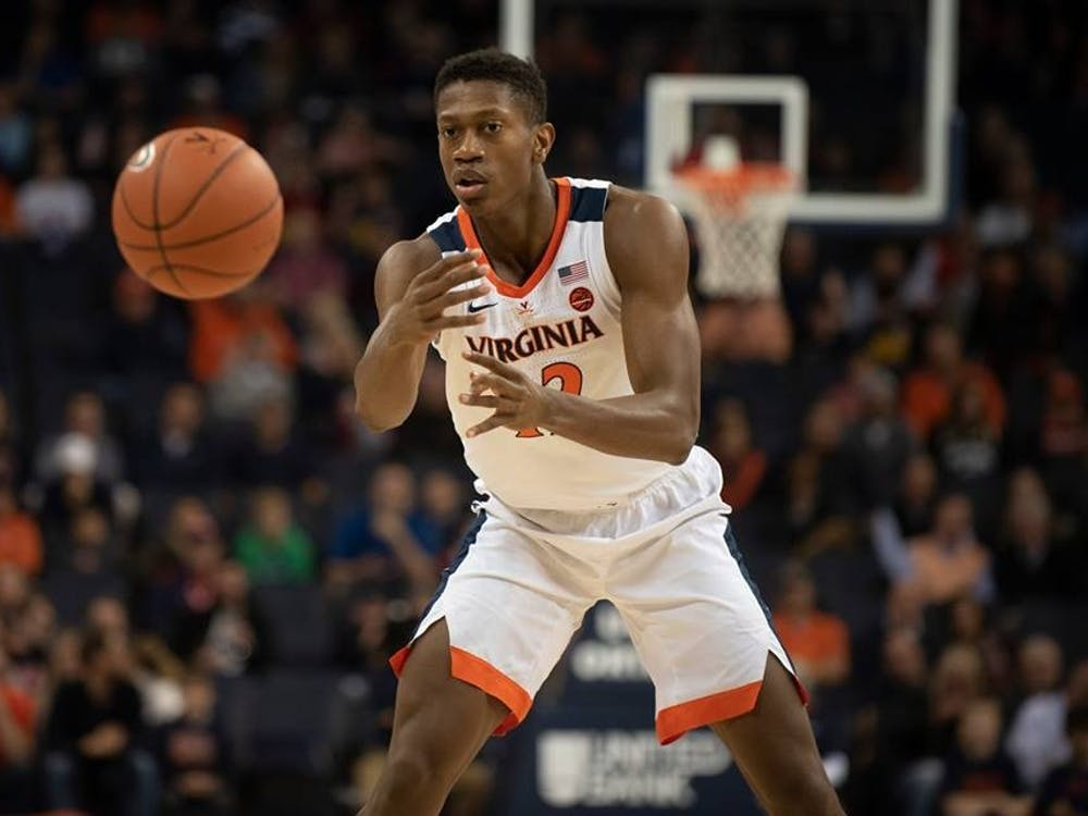 Sophomore guard De'Andre Hunter led all scorers with 20 points against Coppin State.