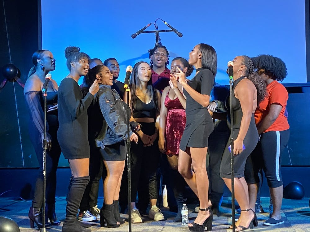ReMix, the University's resident hip-hop a cappella group, hosted their fall concert last Friday in the Runk Green Room.