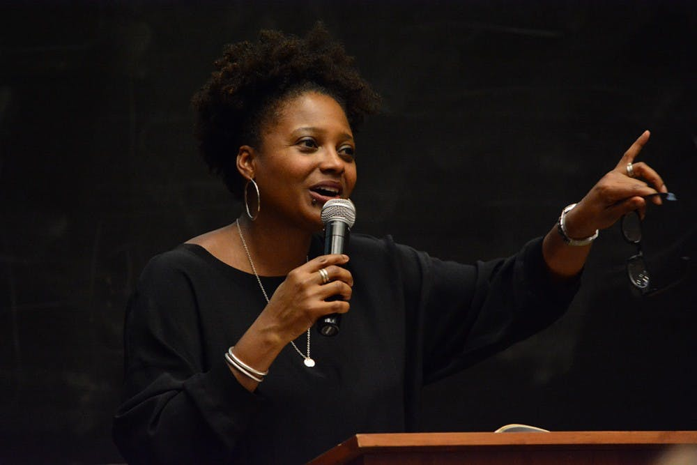 <p>Smith read Tuesday at U.Va. as part of a series coordinated by the Center for Poetry and Poetics.&nbsp;</p>
