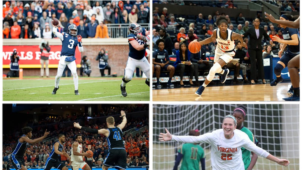 Bryce Perkins (top left), Jocelyn Willoughby (top right), Braxton Key (bottom left) and Meghan McCool (bottom right) have left a lasting mark on the University.