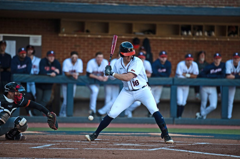 <p>Zack Gelof helped the Cavaliers take a lead in the second inning of the game against William and Mary.</p>