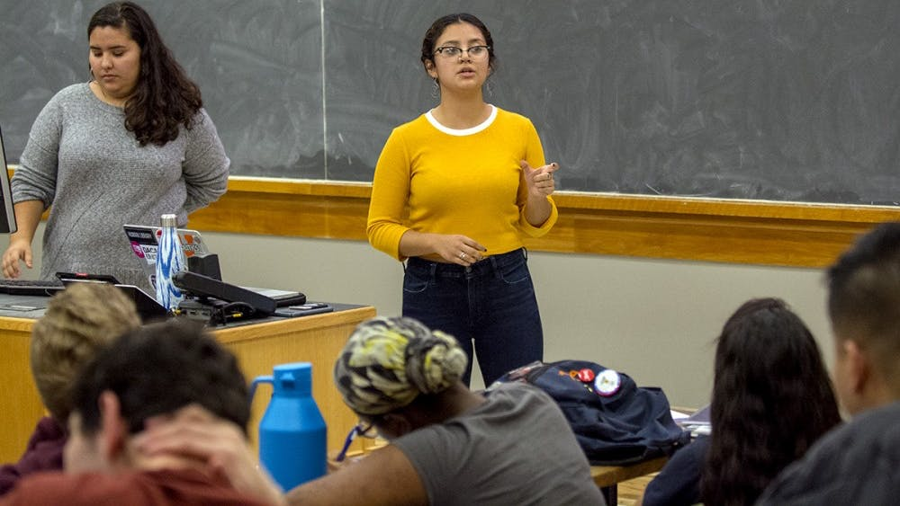 Johanna Moncada, a third-year College student and founder of Central Americans for Empowerment at U.Va., speaks about the caravan crisis.