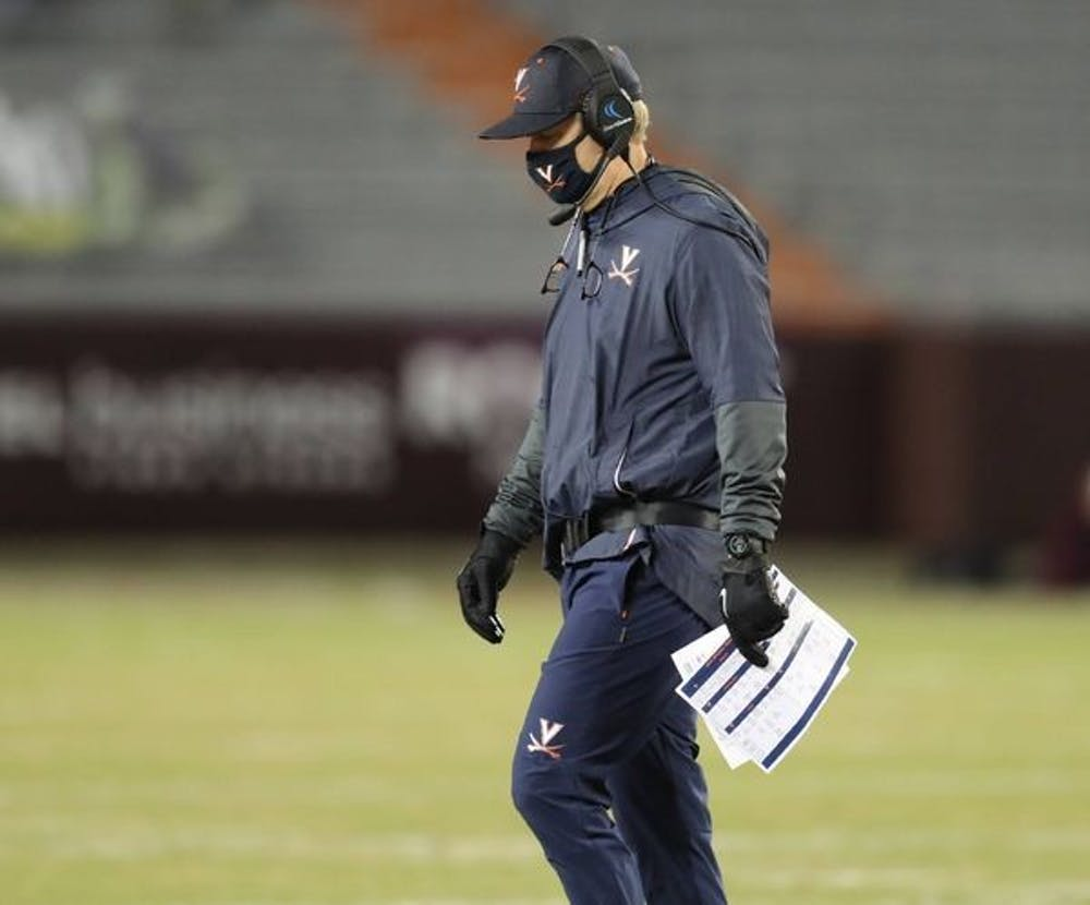 <p>With his most recent loss to the Hokies, football Coach Bronco Mendenhall is now 1-4 against Virginia Tech since being hired at Virginia.</p>