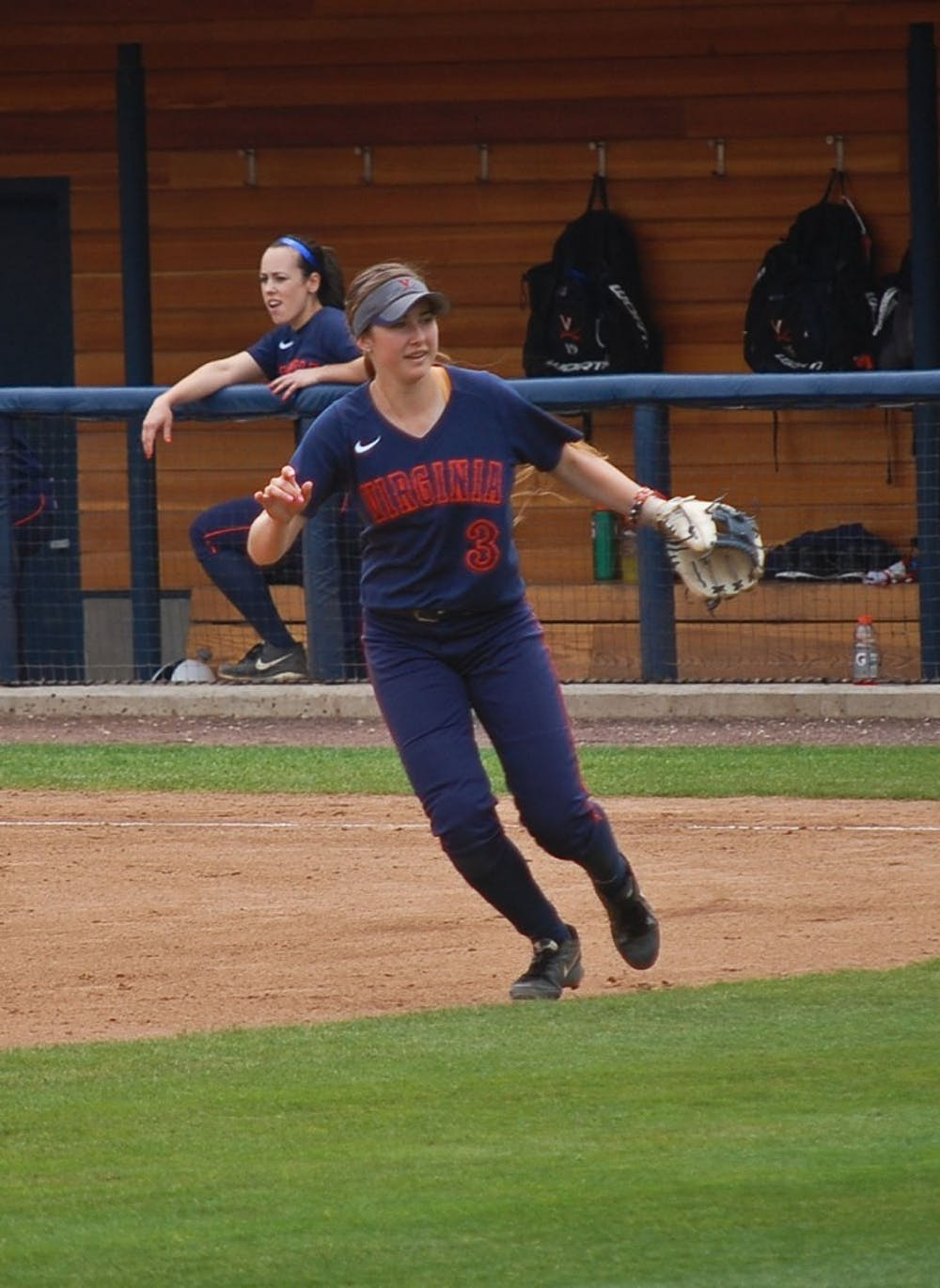 <p>Sophomore second baseman Madison Labshereis keeping a positive attitude despite Virginia's early struggles. She is also crushing the softball, with four home runs and a team-best .611 slugging percentage.</p>