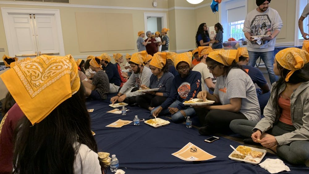 During Langar, people of all classes, genders and religions are welcome and seated beside one another on the floor in a display of unity and equality.