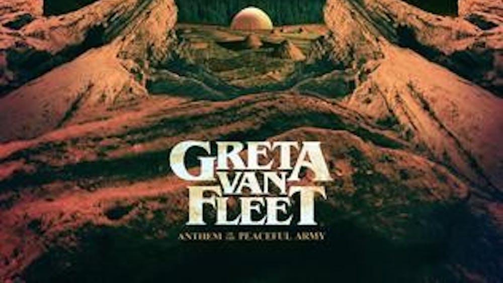 "Greta Van Fleet's first studio album, ""Anthem of the Peaceful Army,"" is a capable, if nostalgia-heavy, debut."