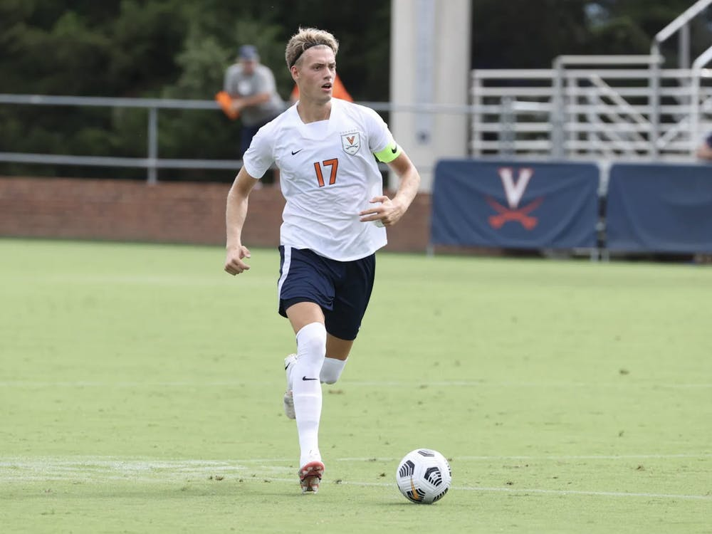 Junior defender Andreas Ueland played a key role on the defensive side for Virginia, managing to keep Denver at bay for a majority of the first half.