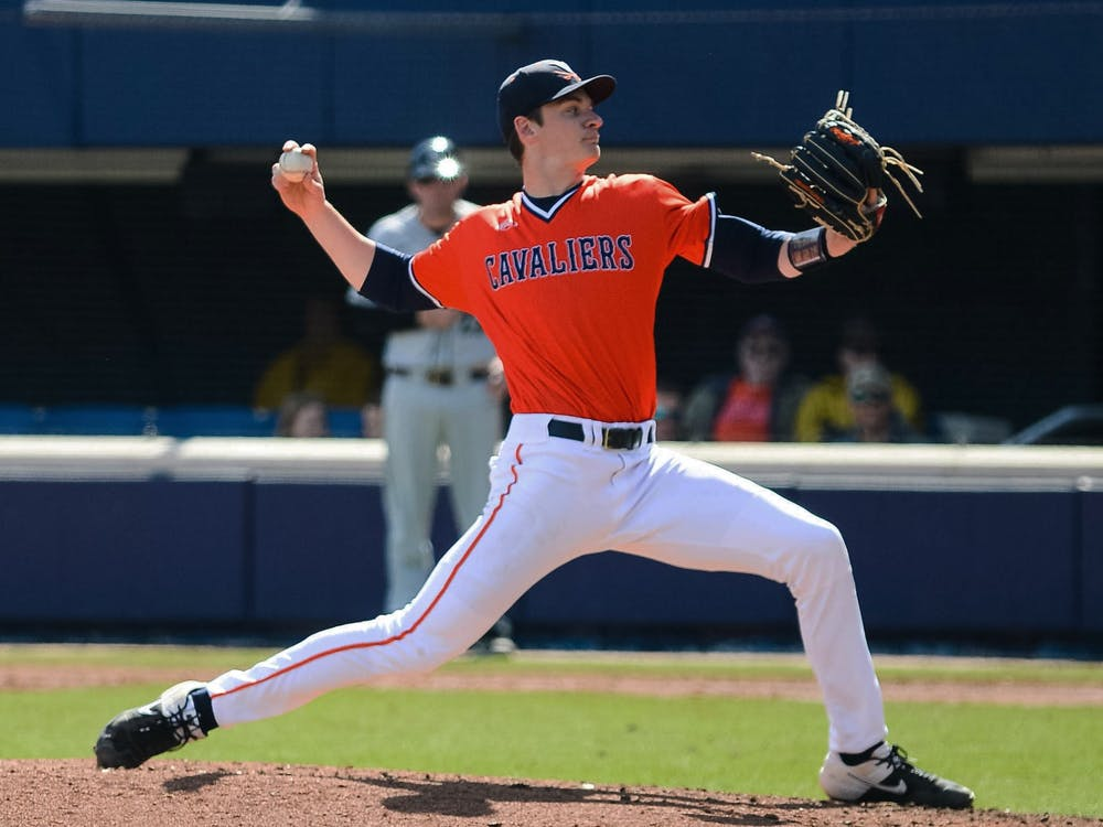 A strong pitching effort from Virginia in the first game led to 16 strikeouts and just two hits by Dartmouth.