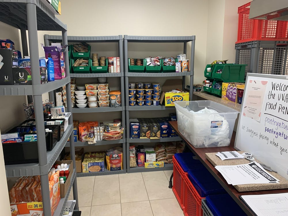 The U.Va. Community food pantry opened in 2018 and has provided students and staff with access to essential food and hygiene items. (Courtesy Mairin Shea)