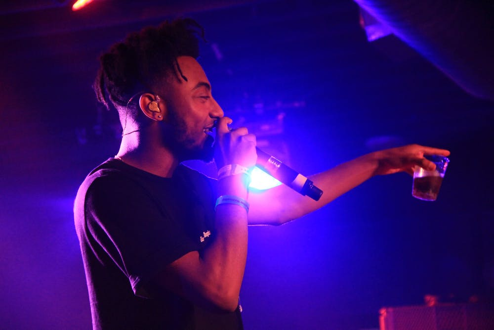 """Aminé, who dropped his sophomore album """"Limbo"""" August 7, performs at the SXSW YouTube Party in 2017."""
