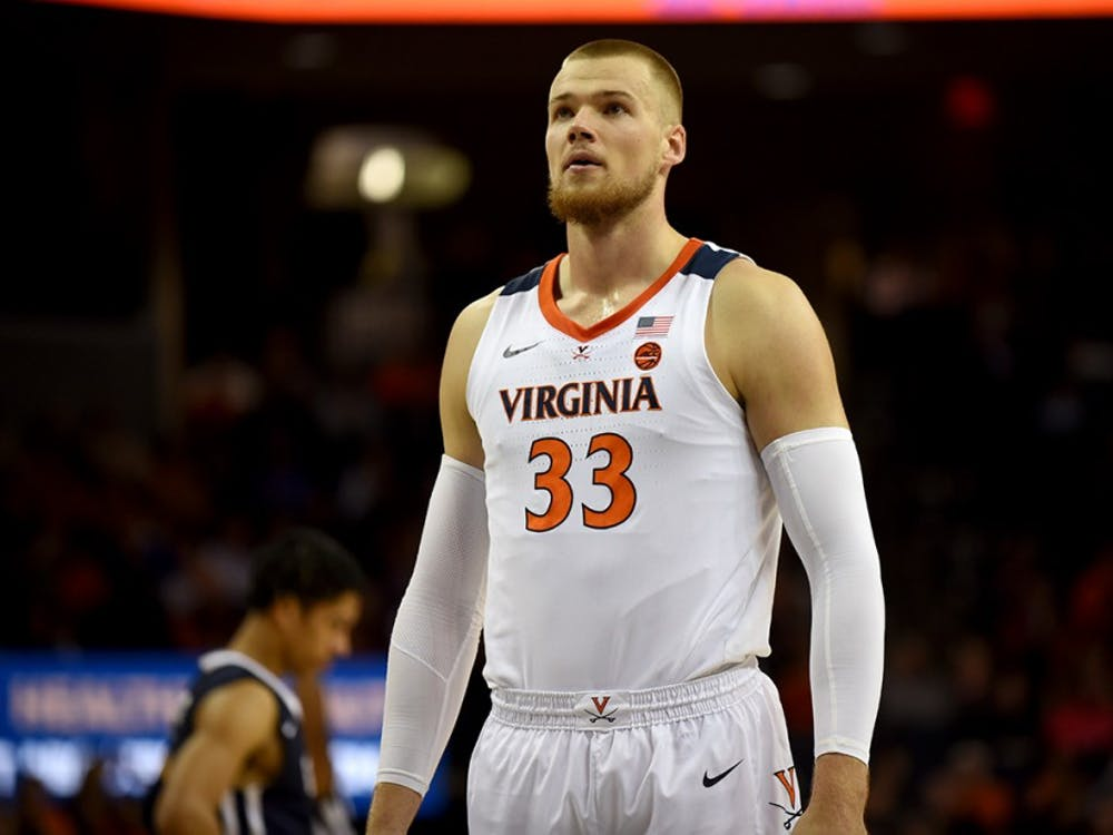 Senior center Jack Salt and the rest of Virginia's big men will need to increase their rebounding output as non-conference play progresses.