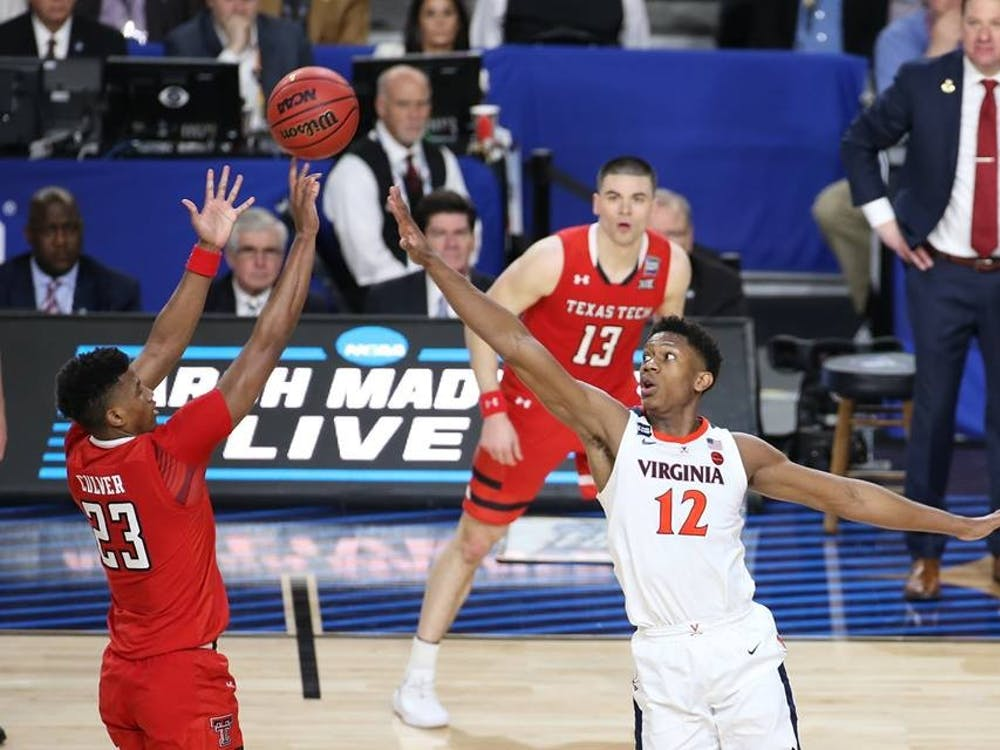 Sophomore guard De'Andre Hunter joins junior guard Ty Jerome in declaring for the NBA Draft.