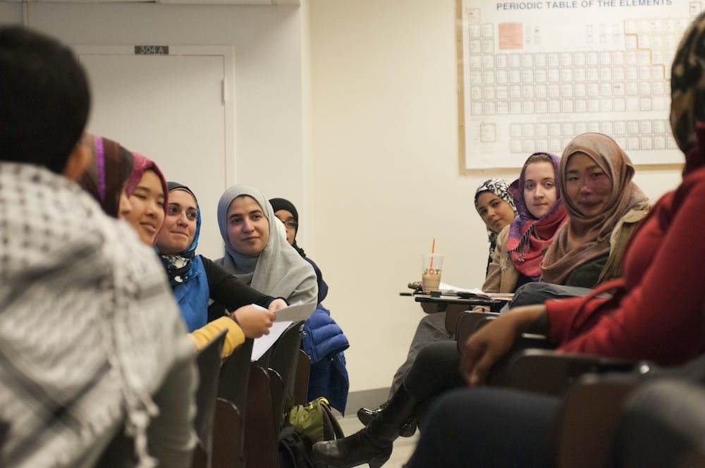 """<p>""""It is a way to kind of show that you are accepting the decision of these young women to choose to wear the scarf and you are acknowledging the fact that some people don't have the opportunity to choose,"""" Latif said.</p>"""