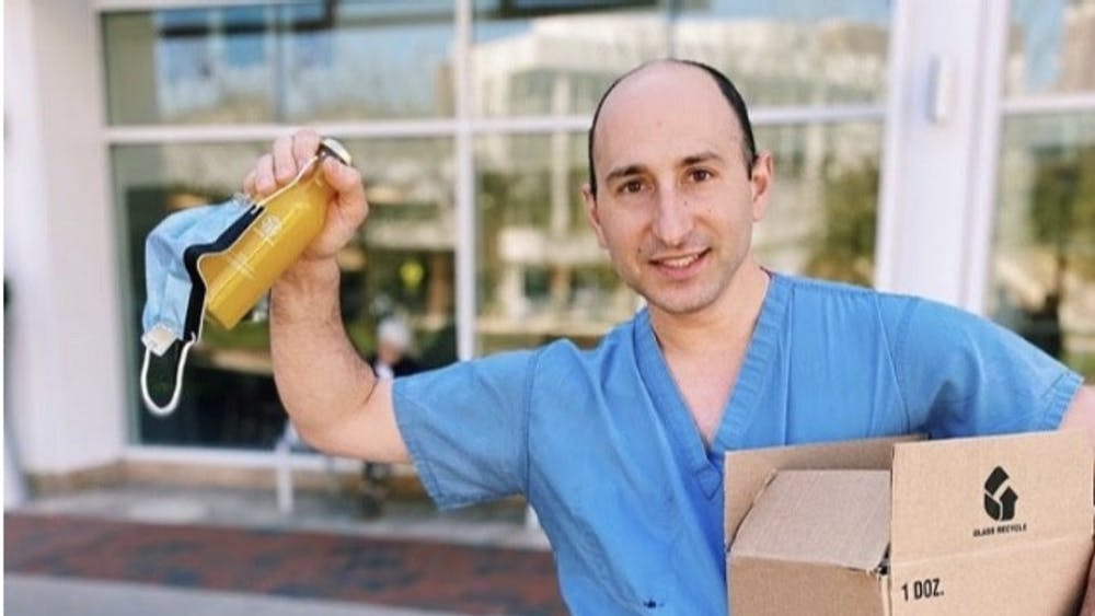 As the first recipient of the juice donation, physician assistant Samuel Beishline, along with Nozet and Linzon, thought it was best to distribute the box of juices to those employees in need of an immune boost.