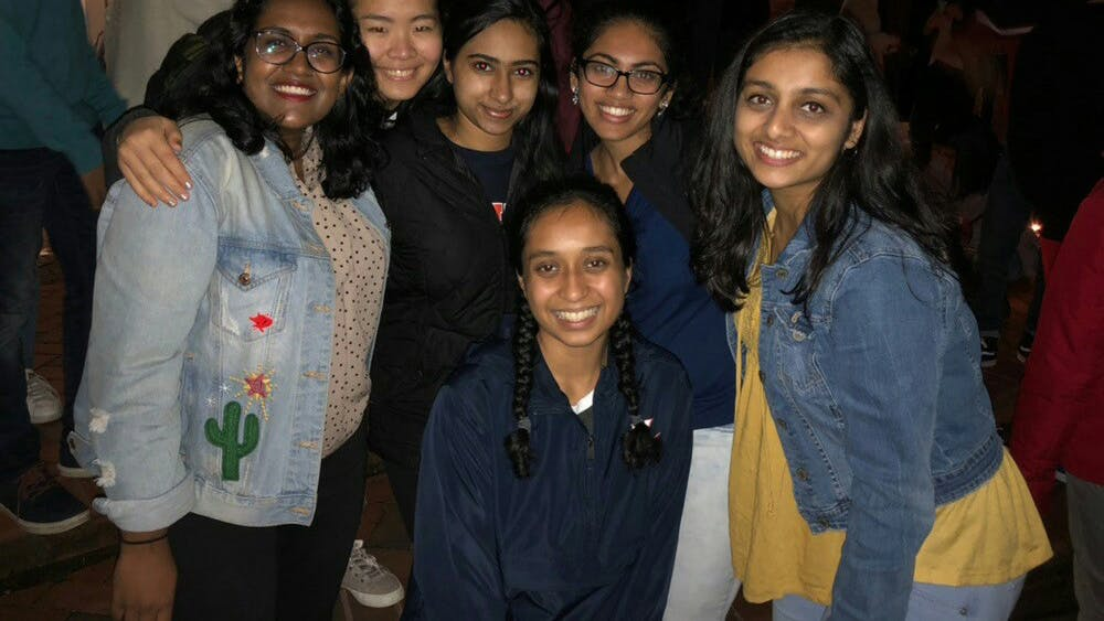 Attendees at the celebration of Diwali — the Festival of Lights — that took place on Nov. 8 at Ern Commons.