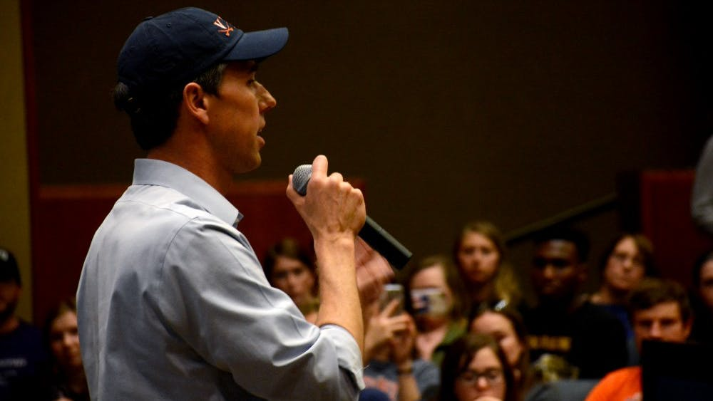 Democratic presidential candidate Beto O'Rourke spoke to hundreds of University students and community members Tuesday evening in Nau Hall.