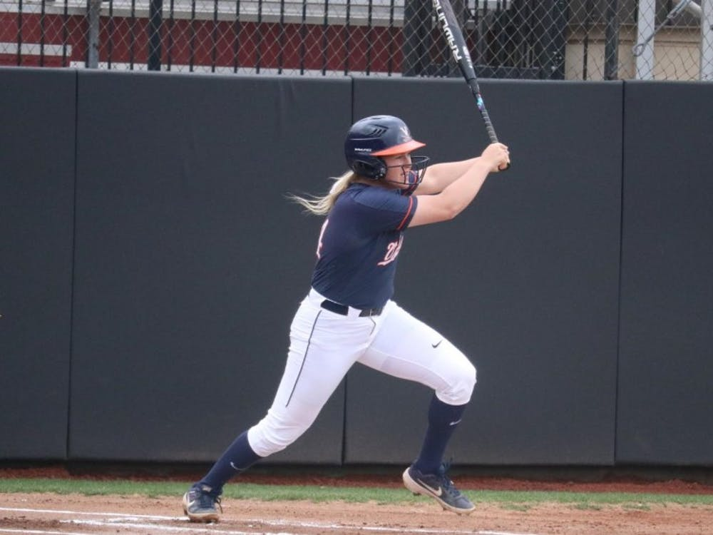 Senior Lacy Smith went 2-for-4 in Virginia's narrow loss in the first game of the series.