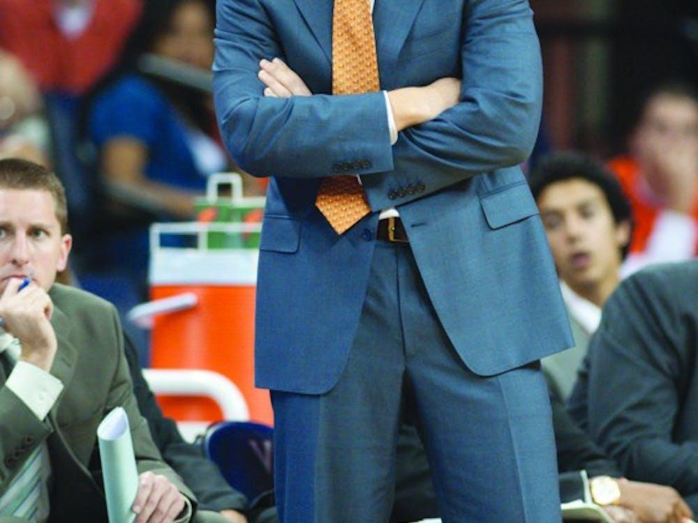 November 21; Charlottesville, VA USA; Virginia head coach Tony Bennett. Virginia defeated Oral Roberts University 76-55.