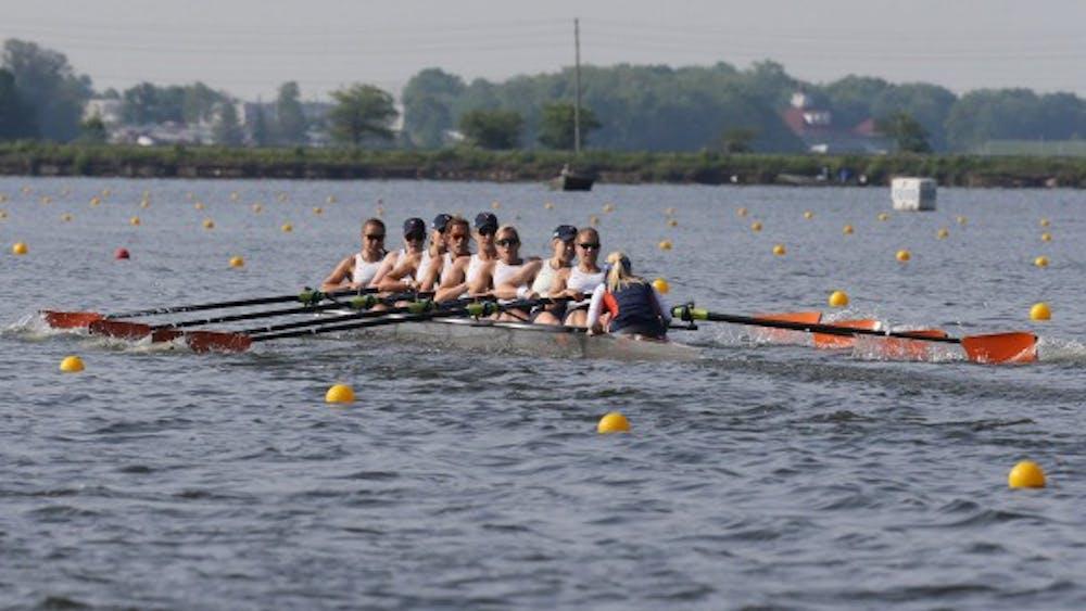 Virginia boats won the Varsity Eights and Varsity Four races Sunday morning on the Rivanna Reservoir.