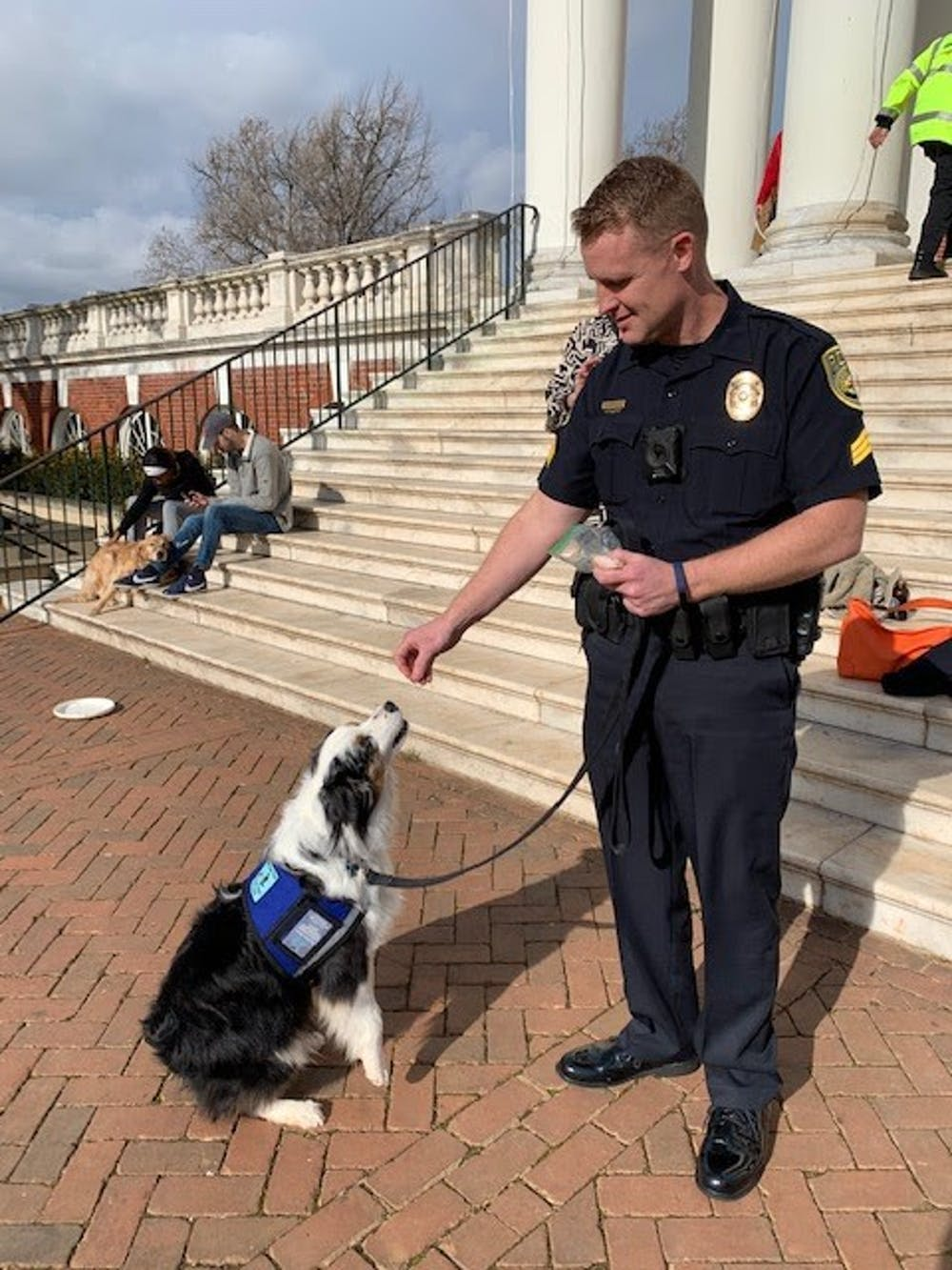<p>Rexrode plans to bring Cooper when working with crime victims or students that have experienced serious trauma, so he can serve as a stress-reliever or relaxer for these students.</p>